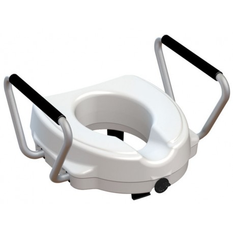 RIALZO WC con braccioli fissi - 12,5 cm