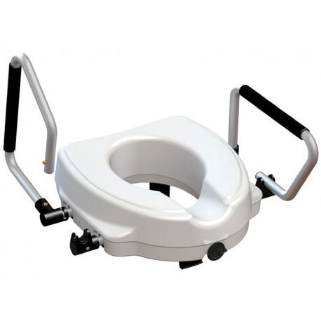 RIALZO WC con braccioli reclinabili - 12,5 cm