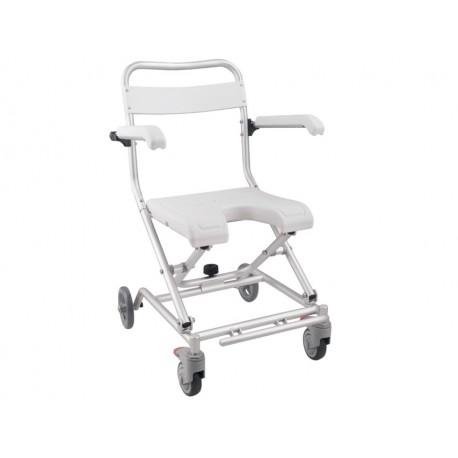 Sedia da doccia pieghevole a rotelle